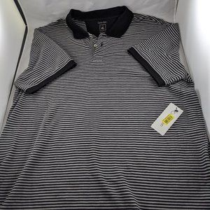 NWT Calvin Klein Men Black Striped Polo XL